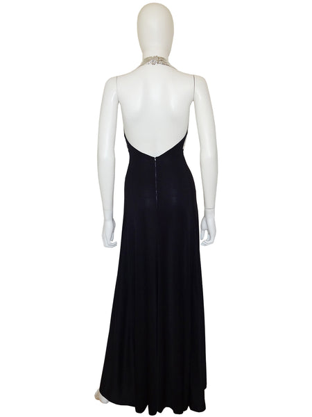 Sold - LORIS AZZARO c. 1972 Documented Mesh Metal Evening Gown Size XS