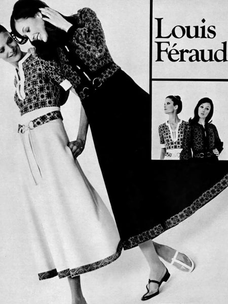 LOUIS FÉRAUD 1969/70 Documented Space Age Dress XS