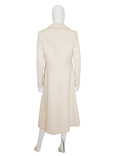 Sold - LOUIS FÉRAUD 1960s Vintage Space Age Coat S