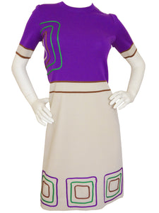 Sold - LOUIS FÉRAUD 1960s Vintage Knit Dress Size S