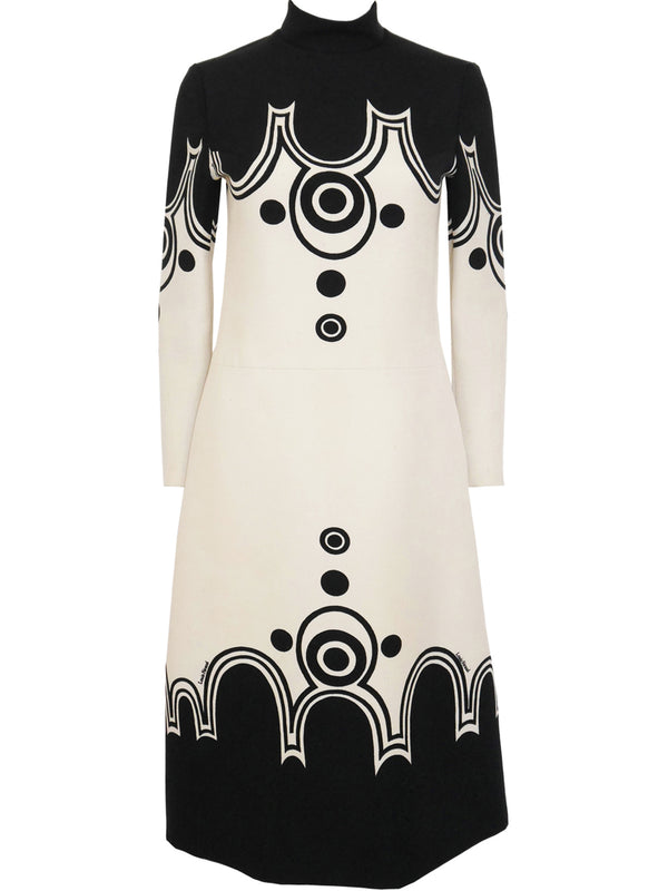 Sold - LOUIS FÉRAUD 1960s Vintage Space Age Graphic Dress XS-S