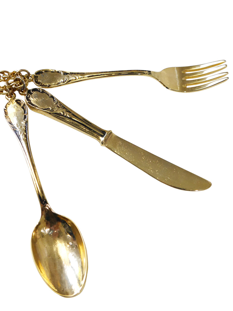 Sold - MOSCHINO Fall 1989 Vintage Cutlery Pendant Necklace
