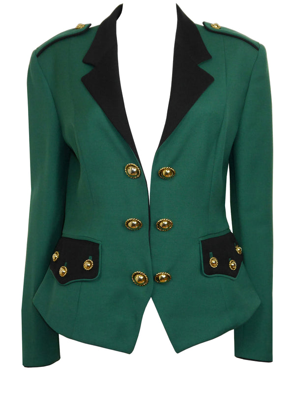 Sold - MOSCHINO Couture! Fall 1990 Vintage Uniform Jacket as worn by Princess Diana Size S