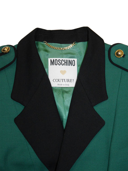 Sold - MOSCHINO Couture! A/W 1990/91 Vintage Uniform Jacket as worn by Princess Diana Size S