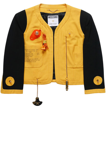 MOSCHINO Couture! S/S 1991 Lifesaver Jacket Size M