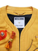 MOSCHINO Couture! Spring 1991 Lifesaver Jacket Size M