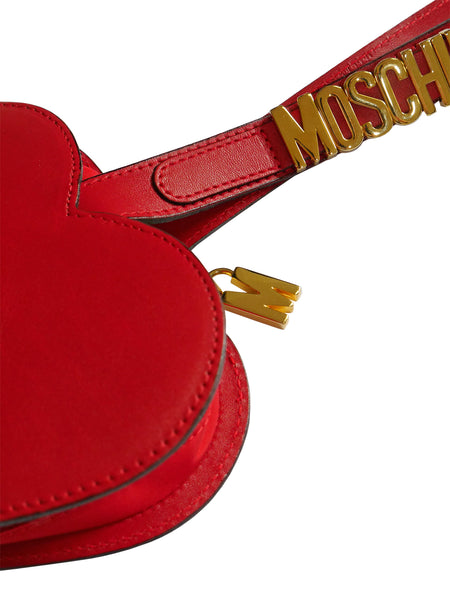 Sold - MOSCHINO Redwall Vintage Red Heart Wristlet Evening Bag