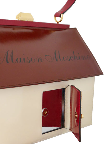 "MOSCHINO 1990s Vintage ""Maison Moschino"" House-Shaped Novelty Handbag"