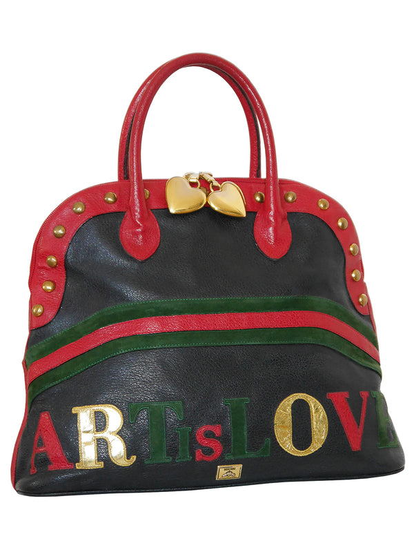 "MOSCHINO by Redwall c. 1990 ""ART IS LOVE"" Vintage Handbag"