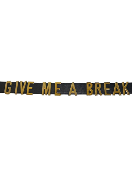"Sold - MOSCHINO Redwall ""GIVE ME A BREAK"" Vintage Belt Size XS-M"