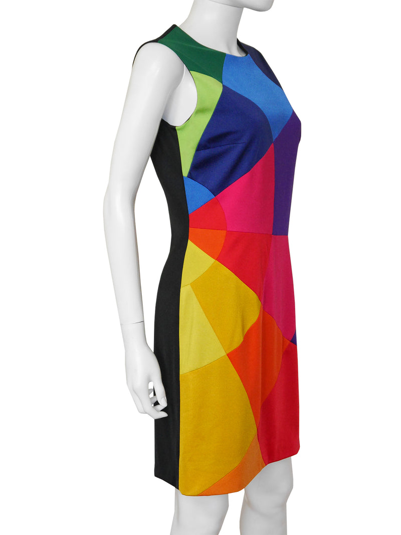 Sold - MOSCHINO 1990s Vintage Rainbow Mini Dress Size S