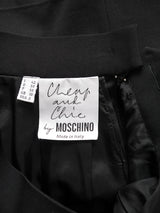 "Sold - MOSCHINO 1990s Vintage Black ""Faucet"" Evening Skirt Suit Size XS-S"