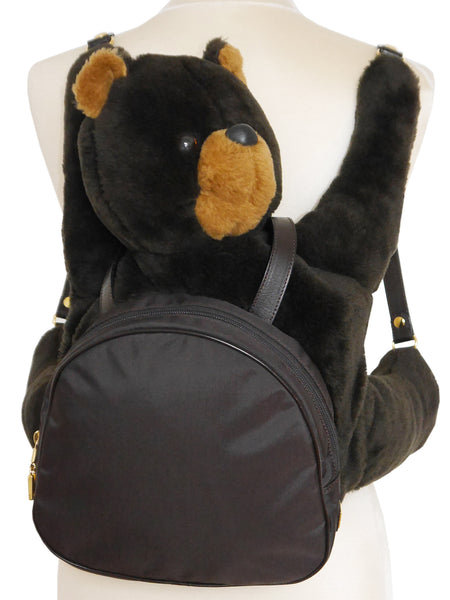 MOSCHINO by Redwall Vintage Collectible Teddy Bear Backpack