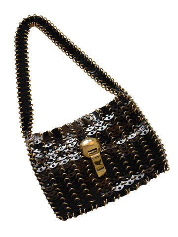 Sold - PACO RABANNE by Ricaf 1960s Vintage Metal Disc Bag