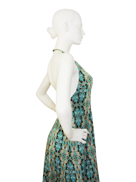 PIERRE BALMAIN 1960s Vintage Backless Evening Dress Size S