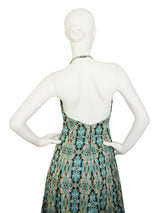 Sold - PIERRE BALMAIN 1960s Vintage Backless Evening Dress Size S