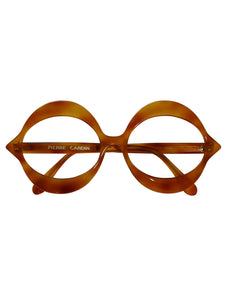 "PIERRE CARDIN 1960s Vintage ""Kiss"" Sunglasses Frame Light Brown Tortoise NOS"
