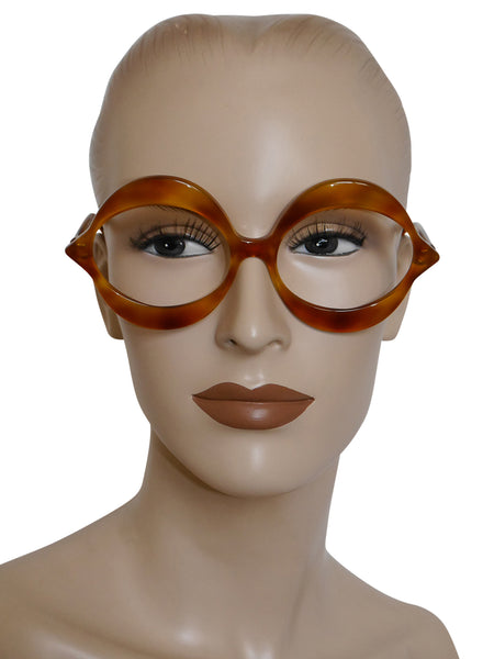 "Sold - PIERRE CARDIN 1960s Vintage ""Kiss"" Sunglasses Frame Light Brown Tortoise NOS"