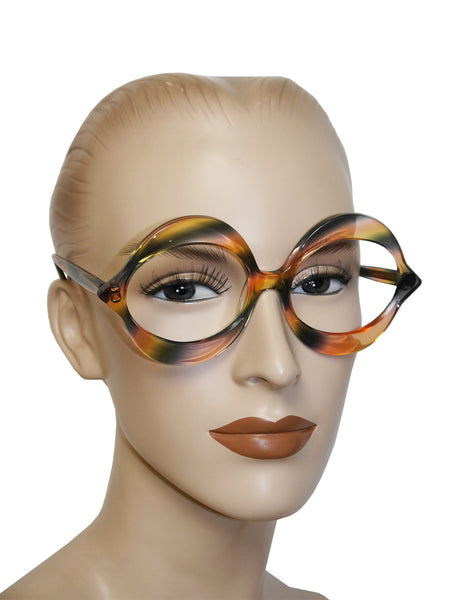 "Sold - PIERRE CARDIN 1960s Vintage Large ""Kiss"" Sunglasses Frame Rainbow NOS"