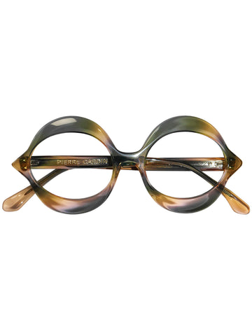 "Sold - PIERRE CARDIN 1960s Vintage Small ""Kiss"" Sunglasses Frame Rainbow NOS"