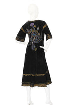 ROBERTO CAVALLI Rare 1970s Vintage Printed Suede Dress Size S