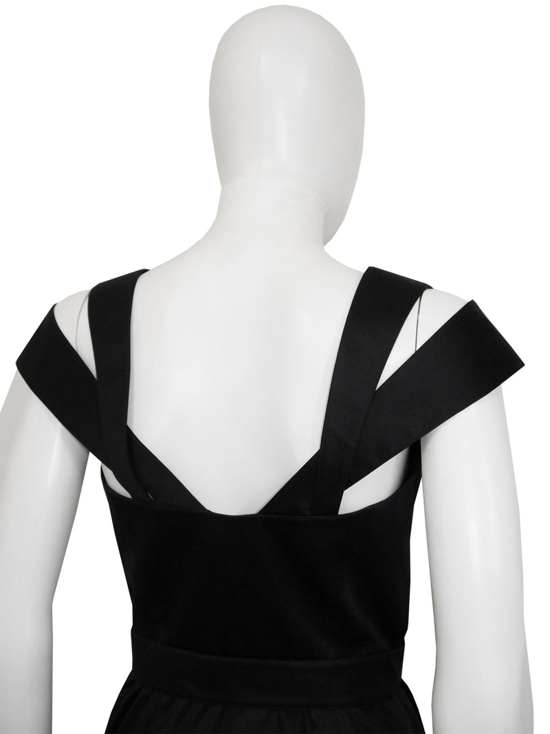 THIERRY MUGLER 1980s 1990s Vintage Black Mini Dress w/ Belt Size XS