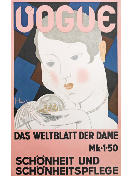 Sold - VOGUE Germany c. 1928 Advertising Poster Artwork by Georges Lepape