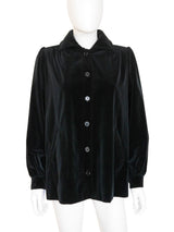 Sold - YVES SAINT LAURENT c. 1974 Documented Velvet Jacket Size XS-S