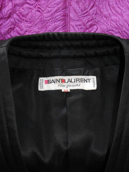YVES SAINT LAURENT Vintage Quilted Evening Jacket Size XS-S