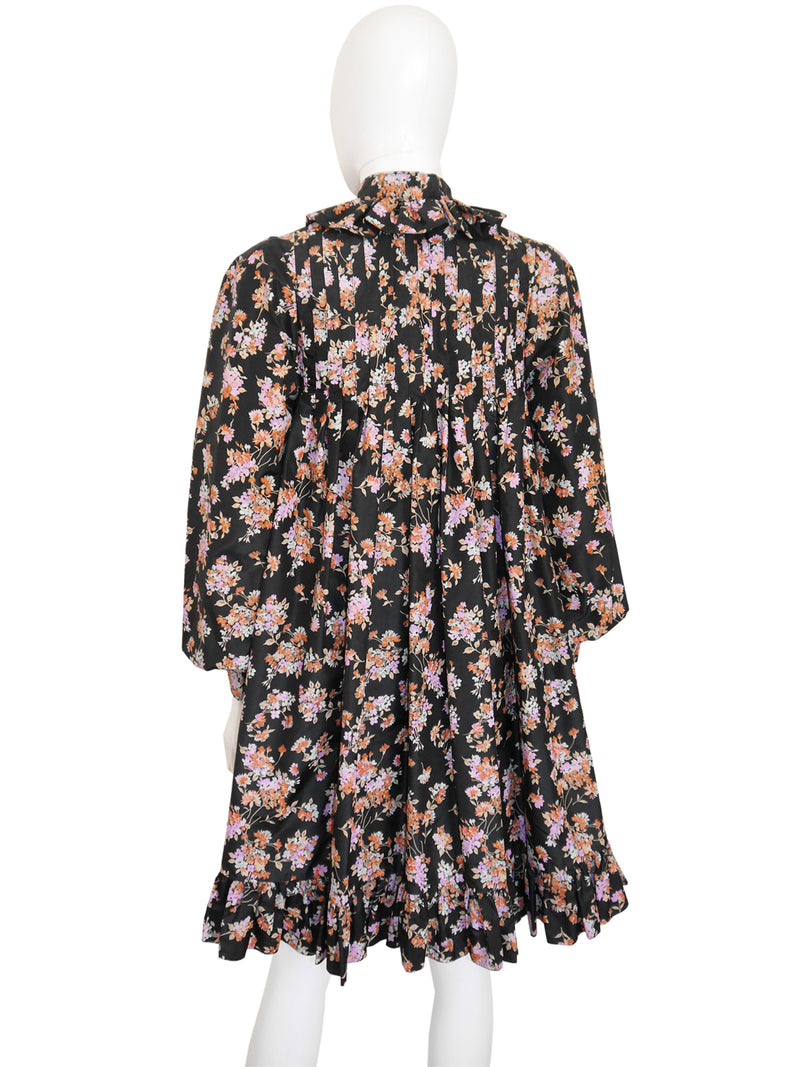 Sold - YVES SAINT LAURENT Fall 1977 Ruffled Silk Evening Coat Size XS