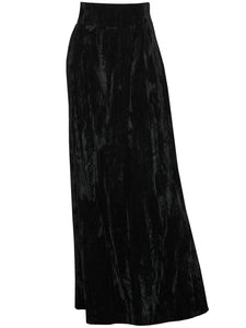 Sold - YVES SAINT LAURENT 1970s Vintage Crushed Velvet Maxi Skirt Size M