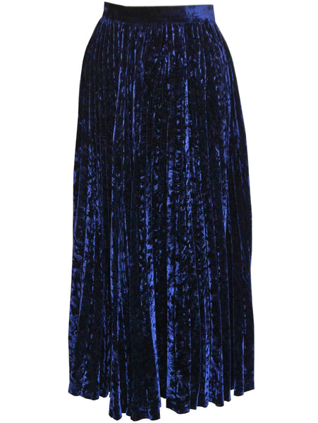 Sold - YVES SAINT LAURENT 1970s Vintage Devore Velvet Evening Skirt Size S