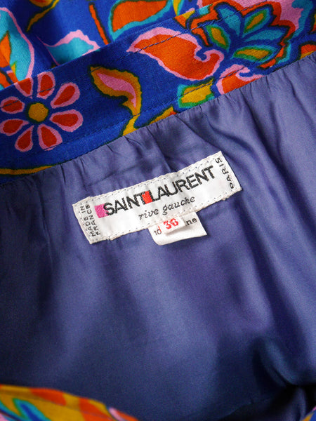 Sold - YVES SAINT LAURENT Vintage Fall 1976 Russian Collection Skirt Size XXS-XS
