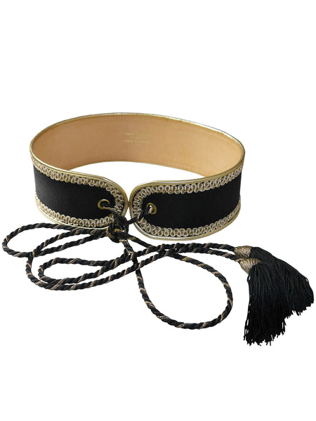 Sold - YVES SAINT LAURENT 1970s Vintage Russian Collection Belt Size XS-S