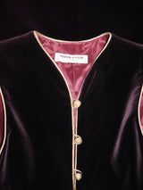 Sold - YVES SAINT LAURENT Fall 1976/77 Russian Collection Velvet Tunic Caftan Dress or Vest Size S