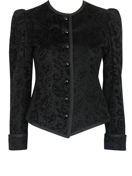 Sold - YVES SAINT LAURENT Vintage Velvet Evening Jacket Size S