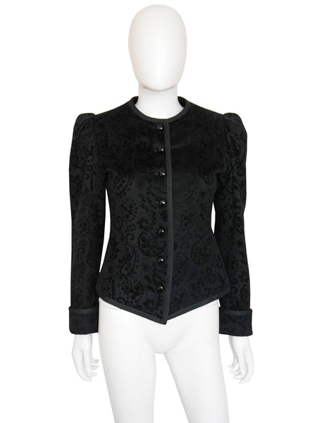 YVES SAINT LAURENT Vintage Velvet Evening Jacket Size S
