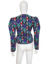 Sold - YVES SAINT LAURENT c. 1980 Documented Ikat Jacket Size S