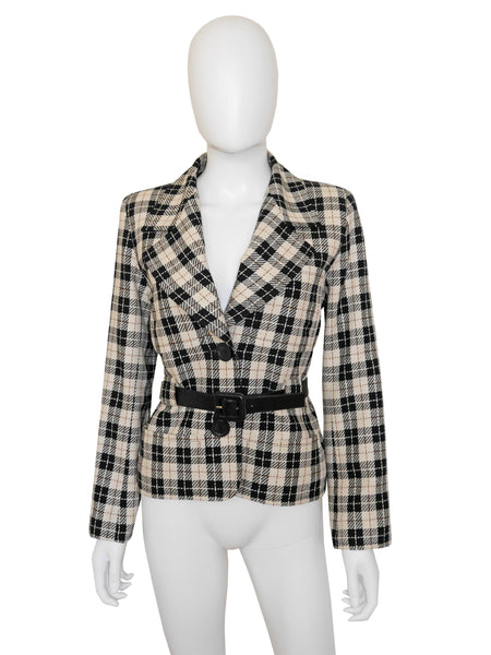 YVES SAINT LAURENT Documented S/S 1986 Vintage Jacket S
