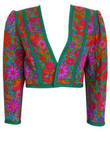 Sold - YVES SAINT LAURENT S/S 1990 Vintage Cropped Jacket Size M