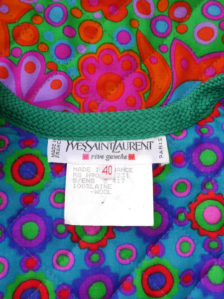 YVES SAINT LAURENT S/S 1990 Vintage Cropped Jacket Size M