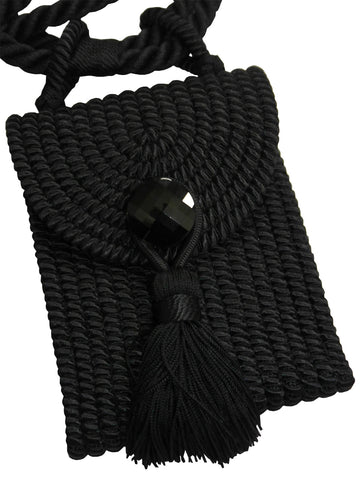 YVES SAINT LAURENT Vintage Black Tassel Evening Bag