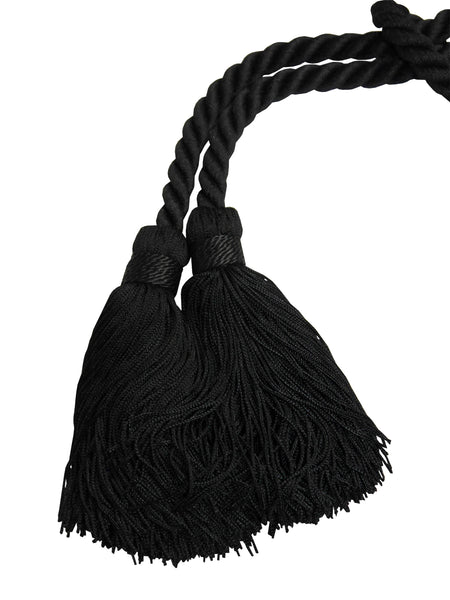 Sold - YVES SAINT LAURENT Vintage Black Tassel Evening Bag