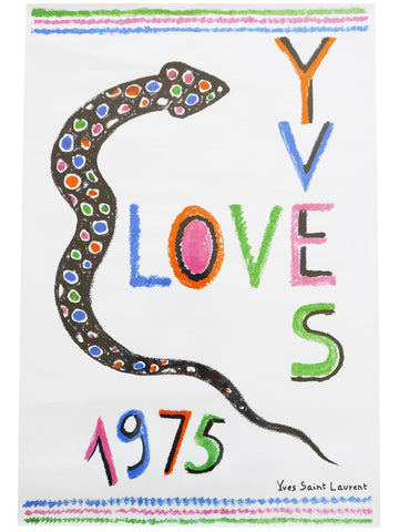 "YVES SAINT LAURENT ""LOVE"" Poster 1975"