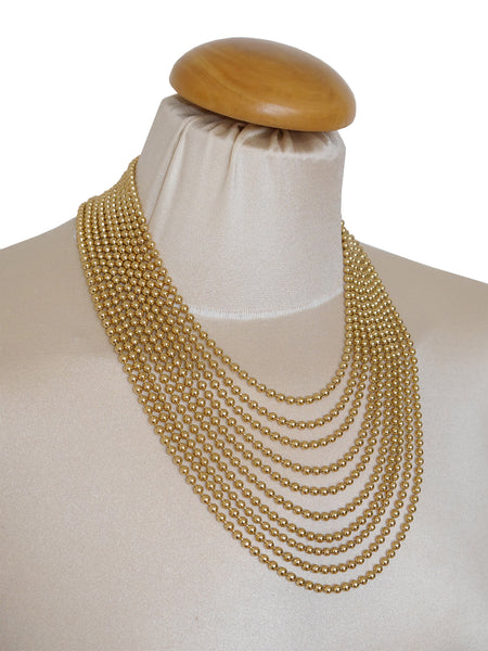 YVES SAINT LAURENT Vintage Gold-Tone Multi-Strand Necklace