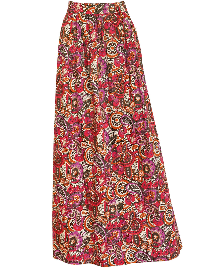 Sold - YVES SAINT LAURENT c. 1970 Vintage Ensemble Maxi Skirt Peplum Jacket Size XS