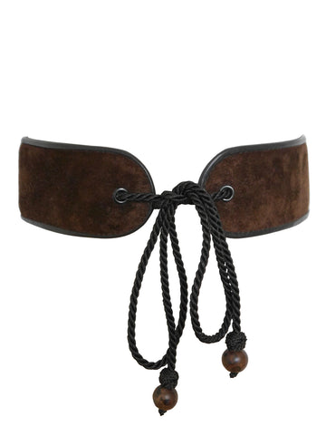 YVES SAINT LAURENT 1976/77 Russian Collection Era Suede Belt Size S