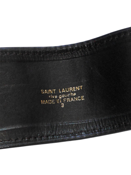 YVES SAINT LAURENT Russian Collection Suede Belt Size S