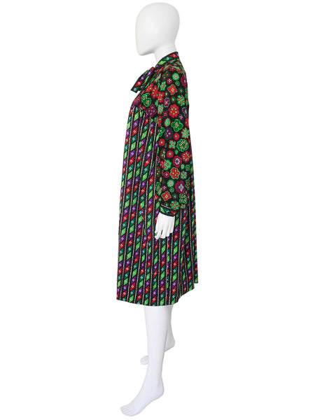 YVES SAINT LAURENT 1976/77 Russian Collection Dress Size S