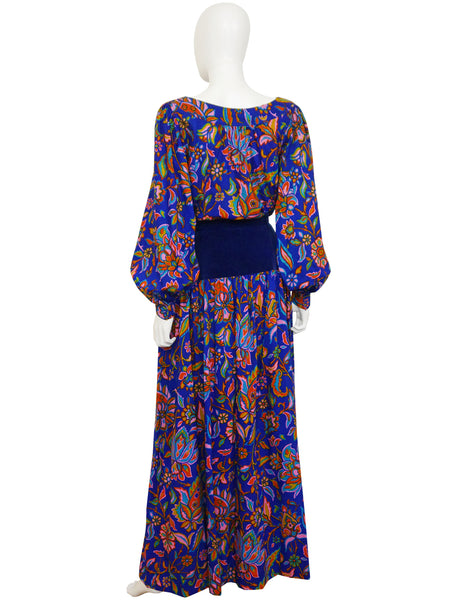 YVES SAINT LAURENT A/W 1976/77 Russian Collection Peasant Blouse & Maxi Skirt Size S